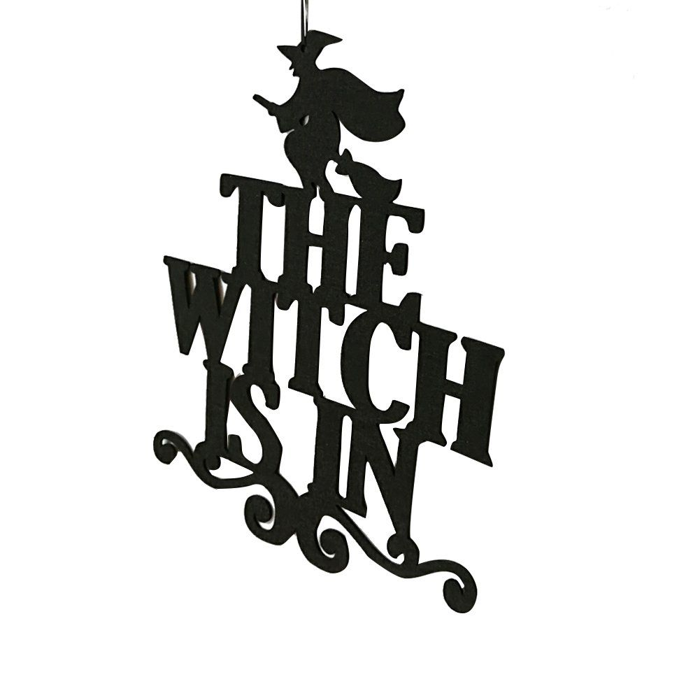3f9891af2b Do It Yourself Halloween Decorations -- Softmusic The Witch Is In Happy  Halloween Party Decor