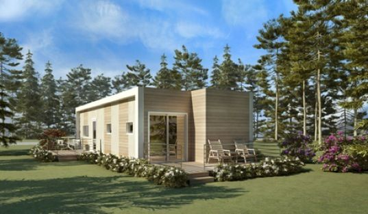 prefab sustainable housing made from recycled shipping containers