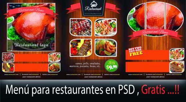 3 plantillas gratis para crear men de restaurante for Crear restaurante