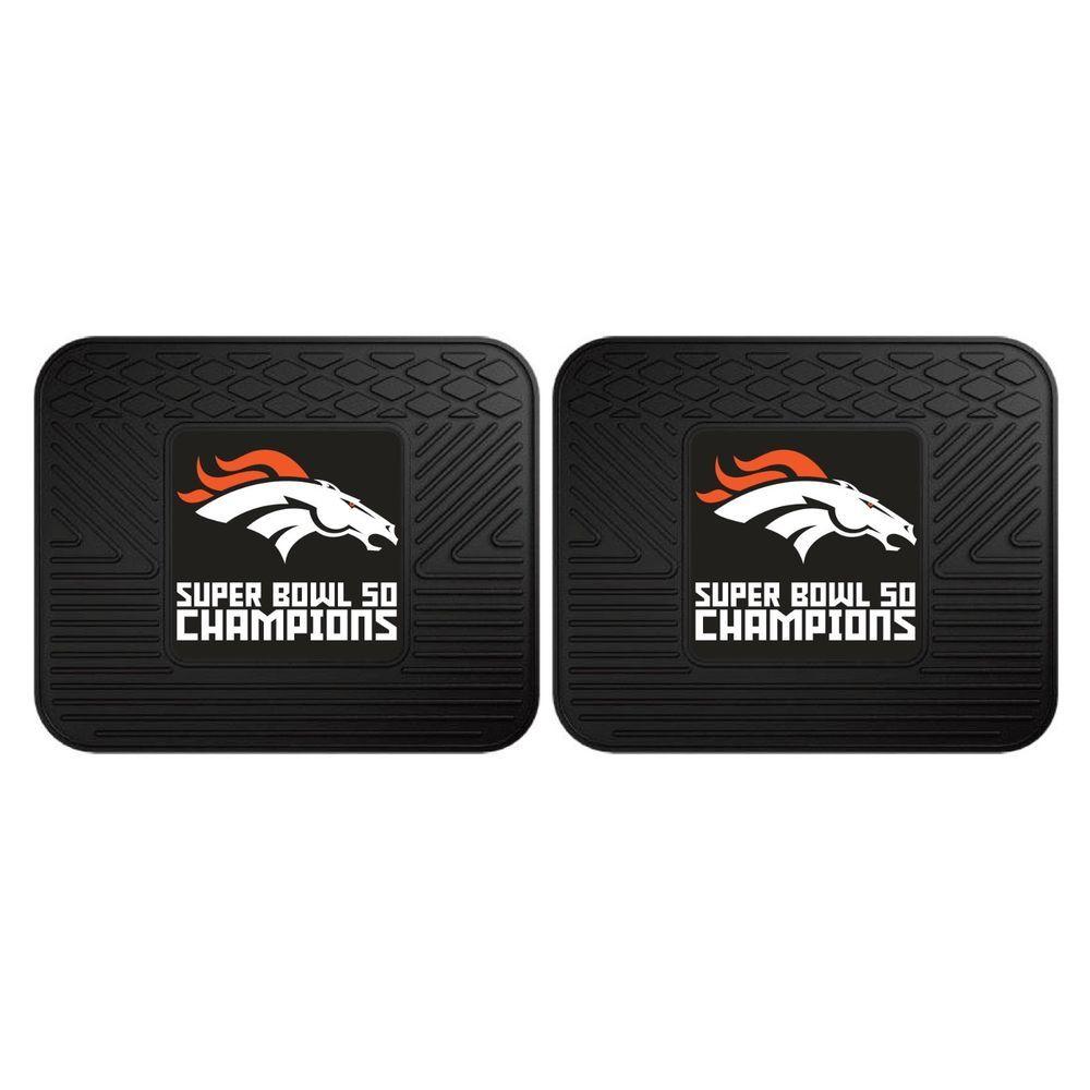 2 Denver Broncos Super Bowl 50 Nfl Car Truck Floor Mat Carpet Rug Fanmats Denver Broncos Super Bowl Super Bowl 50 Nfl Car
