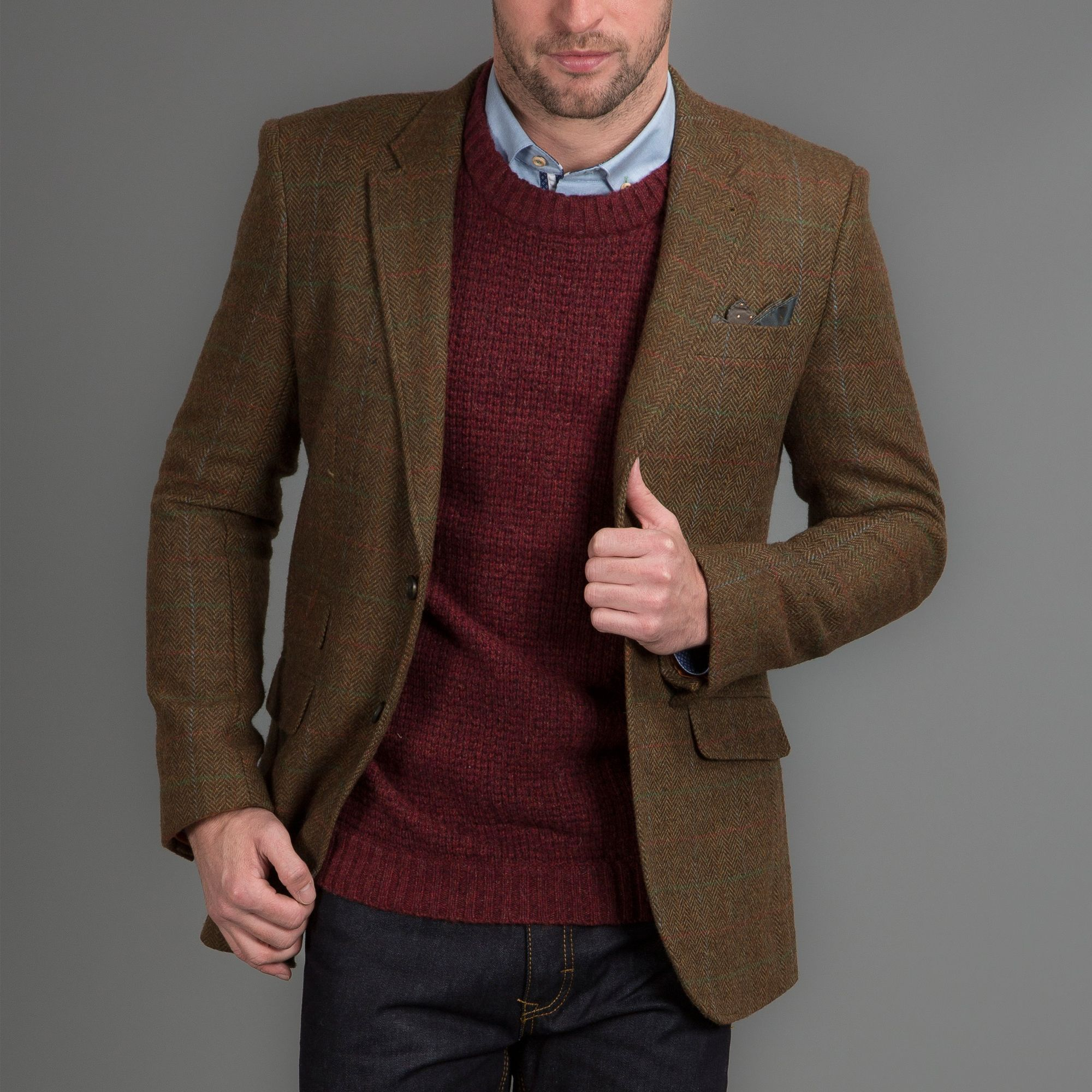 "Blazers Jackets Mens: HARVEY & JONES ""Nick"" Wool Mix Sand Blazer"