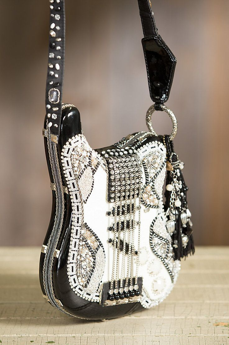 Made Of Patent Faux Leather This One A Kind Guitar Handbag