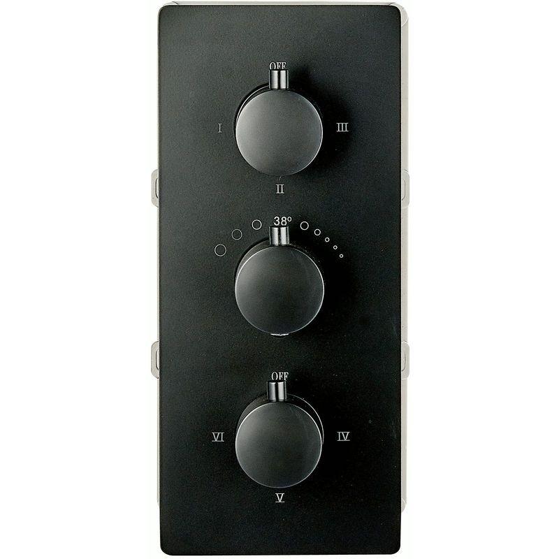 noir Mitigeur de douche mural /à encastrer UP11-01 avec inverseur /à 6 voies