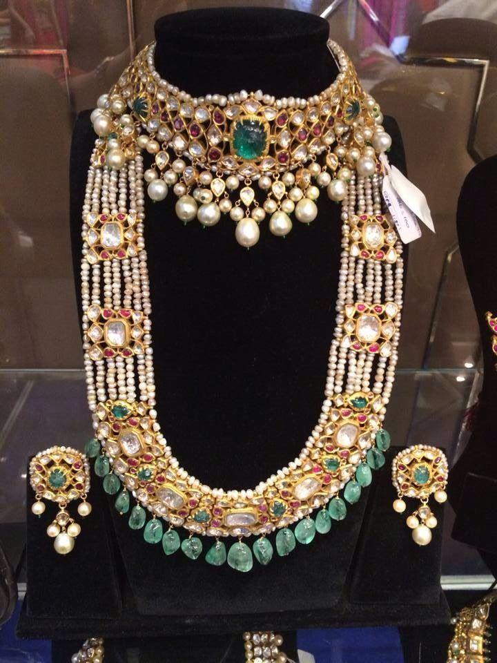 Beautiful Party Wear Matte Finish Topaz Kundan Choker Gold Imitation Jewellery Set India Bridal & Wedding Party Jewelry Engagement & Wedding