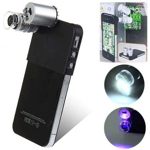 Professional 60X Magnifier Microscope for iPhone 4/4S 4