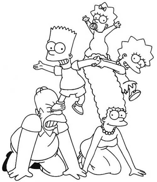 Pin Em Simpson S Coloring Pages