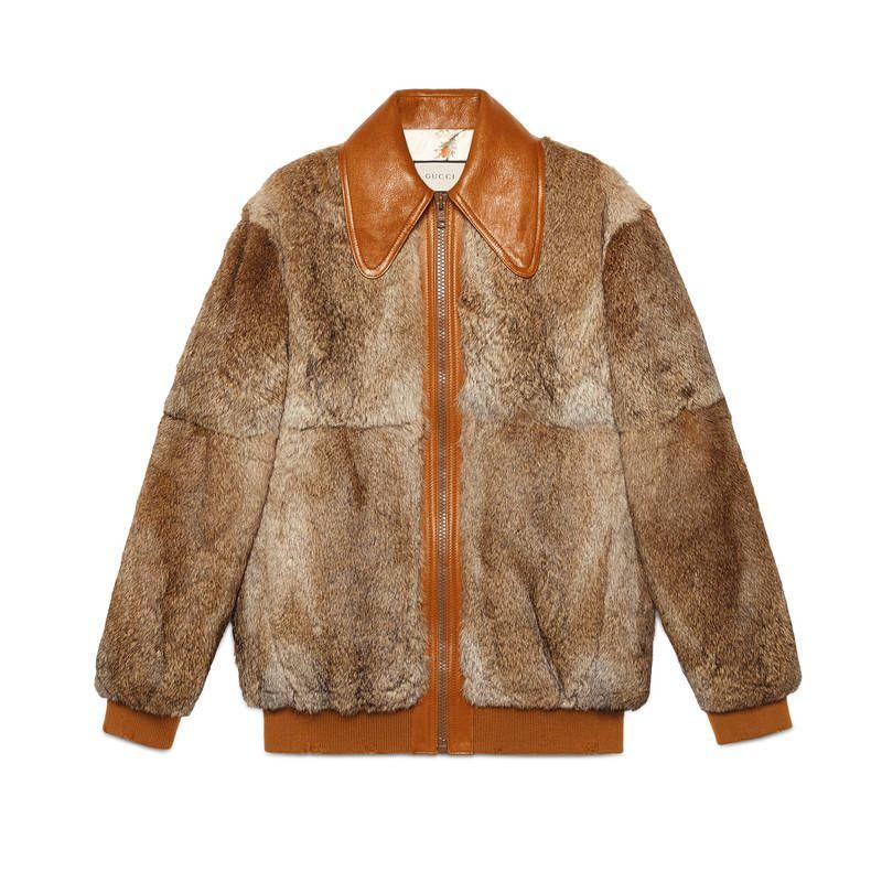 2917aa240 GUCCI FUR BOMBER WITH WOLF INTARSIA. #gucci #cloth # | Gucci | Fur ...