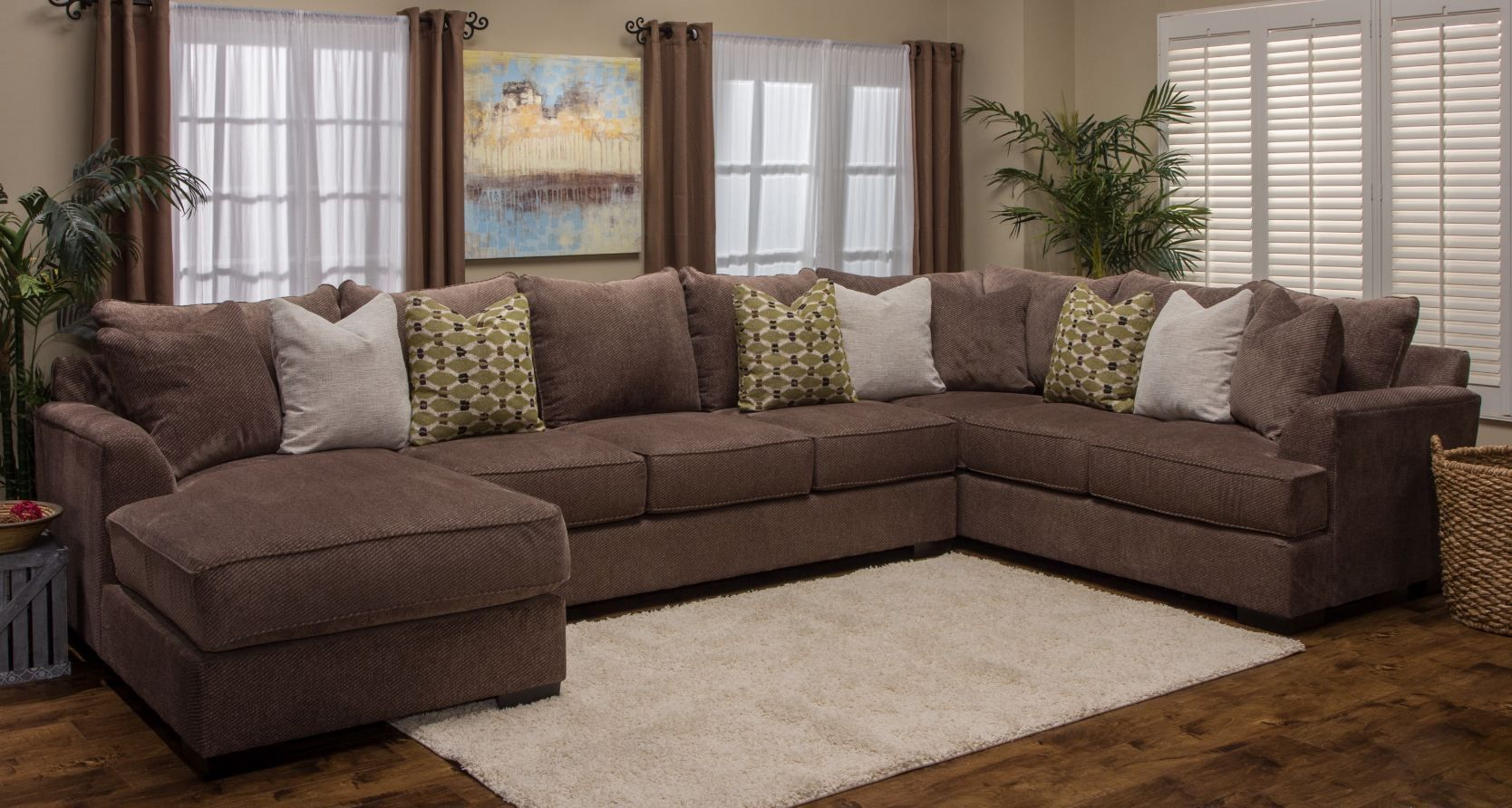3pc Fortune Sectional Woodstock Furniture Outlet
