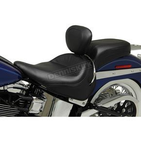 Wide Vintage Solo Seat W/Driver Backrest - 79914 | Motorcycle stuff