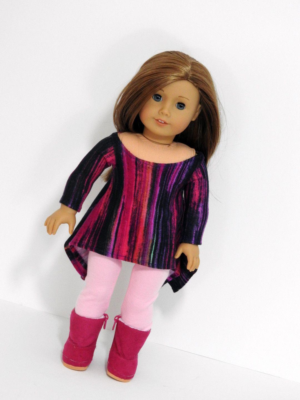 Trendy American Girl Doll Clothes Handmade Twirly Shark Bite Tunic ...