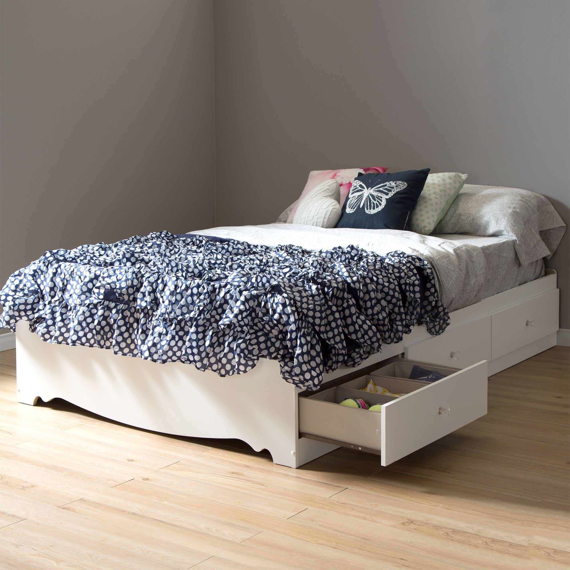 Home Platform bed with storage, Furniture, Bed with drawers