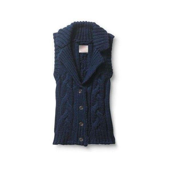 d87e5aab65c9 Quiksilver Women s Cozy Cable Vest Sleeveless Sweater Navy Blue ...