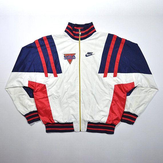 Mejora Celo loco  Rare Vintage 80s 90s NIKE USA TEAM Windbreaker Jacket / Nike United States  Track Field Athlete Jacket / Retr… | Windbreaker jacket, Vintage  windbreaker, Windbreaker
