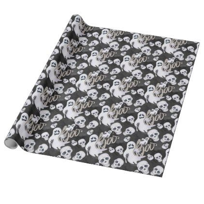 #Ghosts Halloween Pattern Wrapping Paper - #Halloween #happyhalloween #festival #party #holiday
