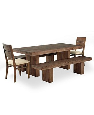 Champagne Dining Room Furniture 5 Piece Set Dining Table 2 Side