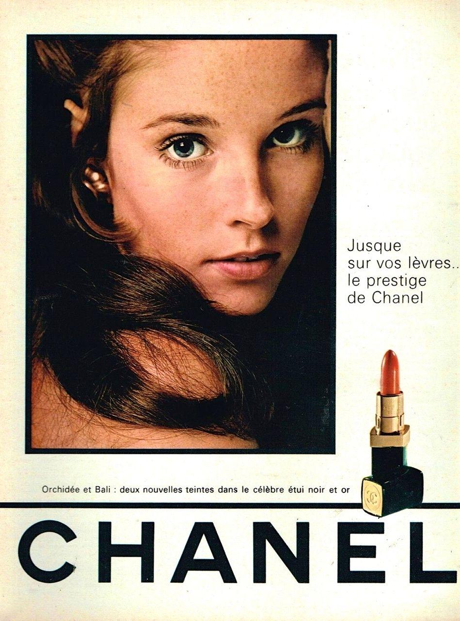 Chanel lipstick ad 1968 vintage makeup vintage vanity vintage chanel vintage beauty