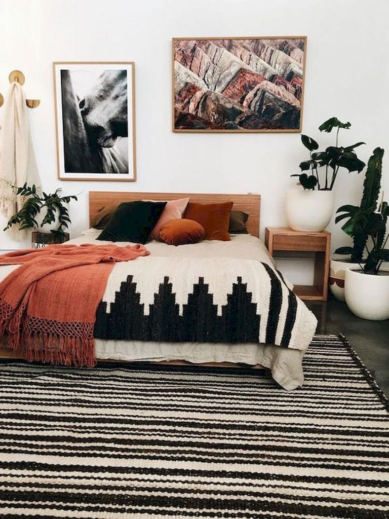 50 Incredible Apartment Bedroom Decor Ideas With Boho Style (29