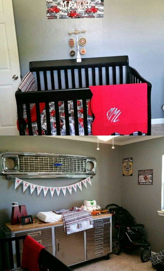 Vintage Baby Boy Nursery Ideas: Major's Vintage Chevy Nursery!! Perfect For Our Baby Boy