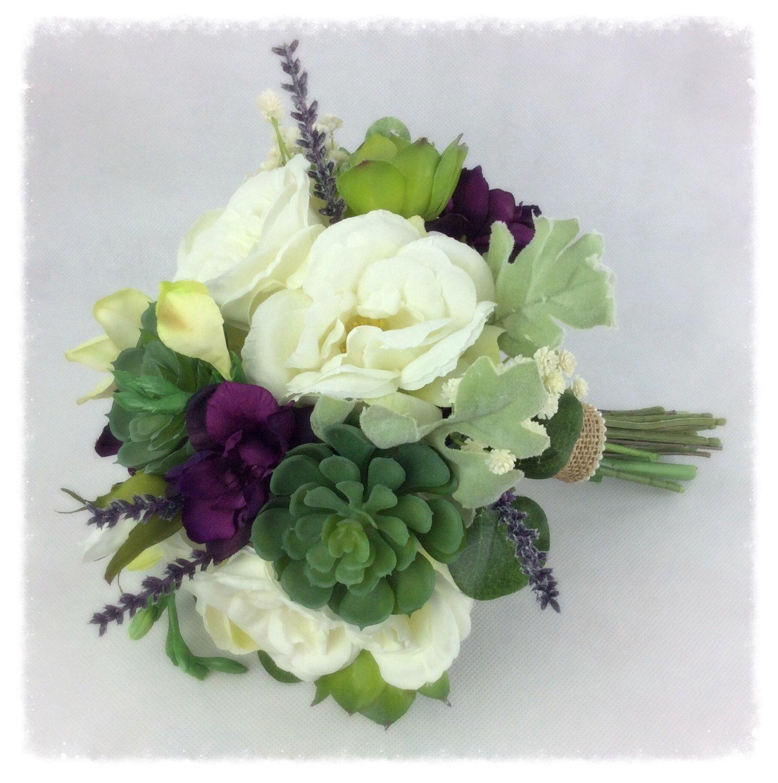 Wedding Bouquet Bridal Bouquet Succulent Bouquet Artificial