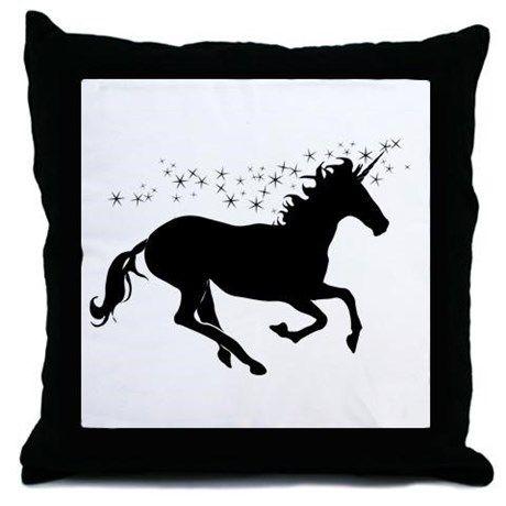 Magical Unicorn Silhouette Throw Pillow