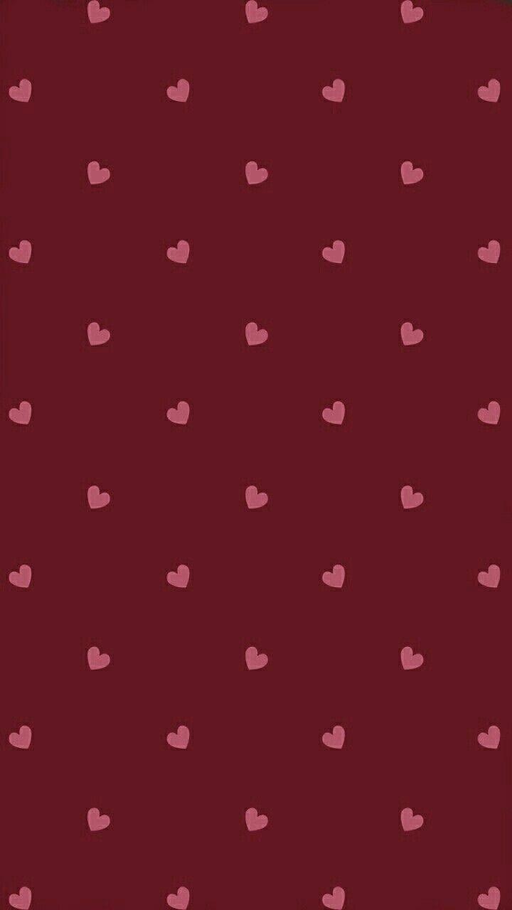 Cute Maroon Hearts