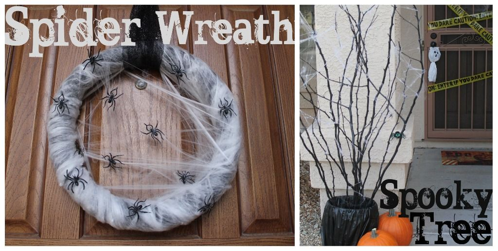 DIY Halloween Decor DIY Halloween, Spider webs and Wreaths