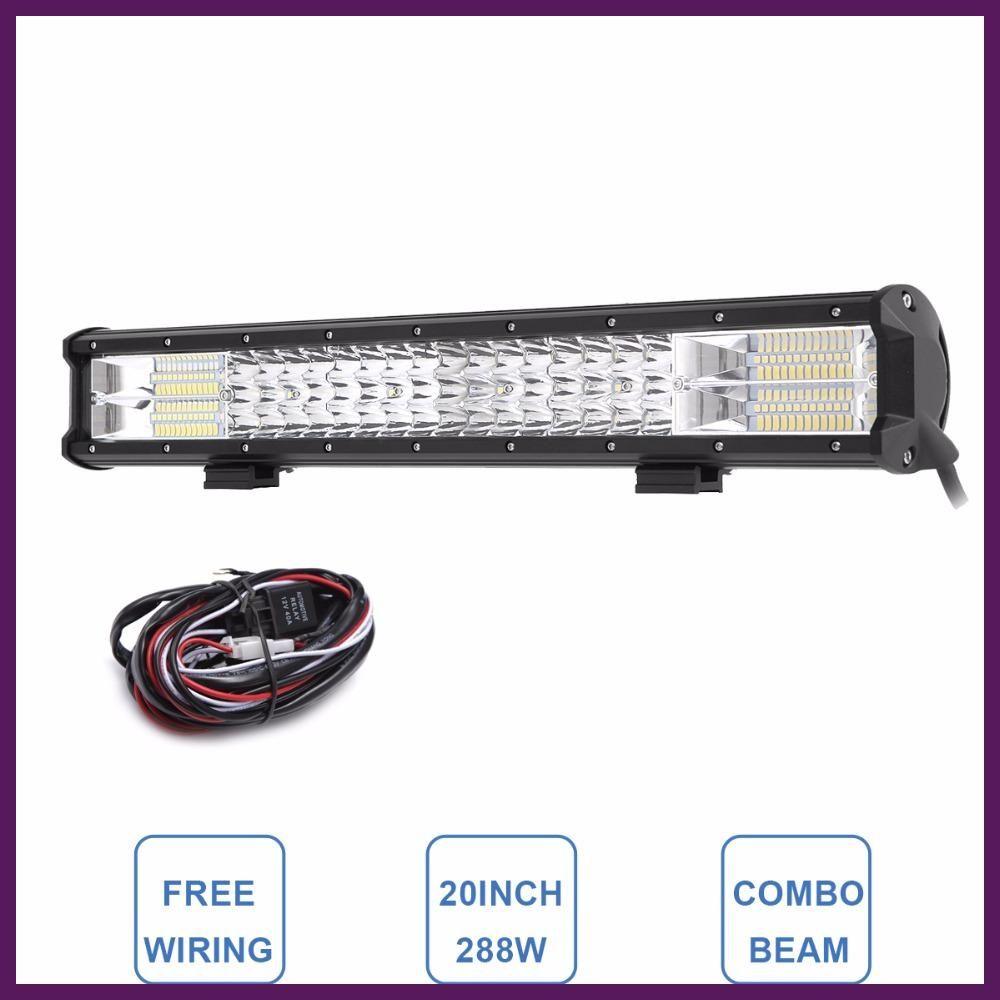 20 tri row led light bar combo 288w led work lamp 12v 24v truck 20 tri row led light bar combo 288w led work lamp 12v 24v truck aloadofball Choice Image
