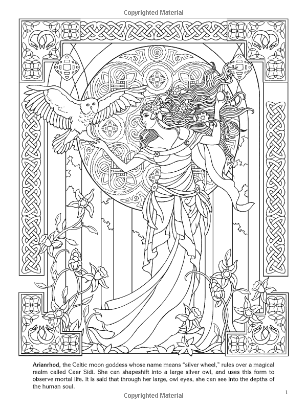 Goddesses Coloring Book Dover Coloring Books Marty Noble Coloring Books 9780486480282 Amazon Com Books Celtic Coloring Coloring Books Coloring Pages