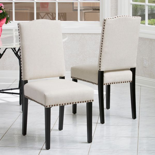 Christopher Knight Home Brunello Beige Fabric Dining Chairs Set Best Beige Leather Dining Room Chairs Design Decoration
