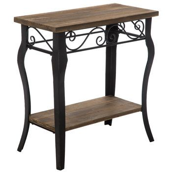 Scroll Wood Accent Table -   12 home accents Pieces entryway ideas