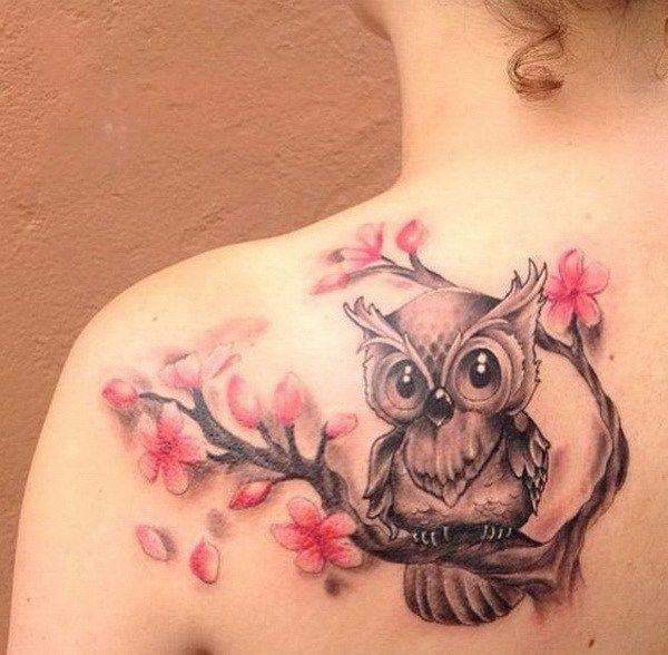 35 Attractive Owl Tattoo Ideas Tattoos Tattoos Blossom Tattoo