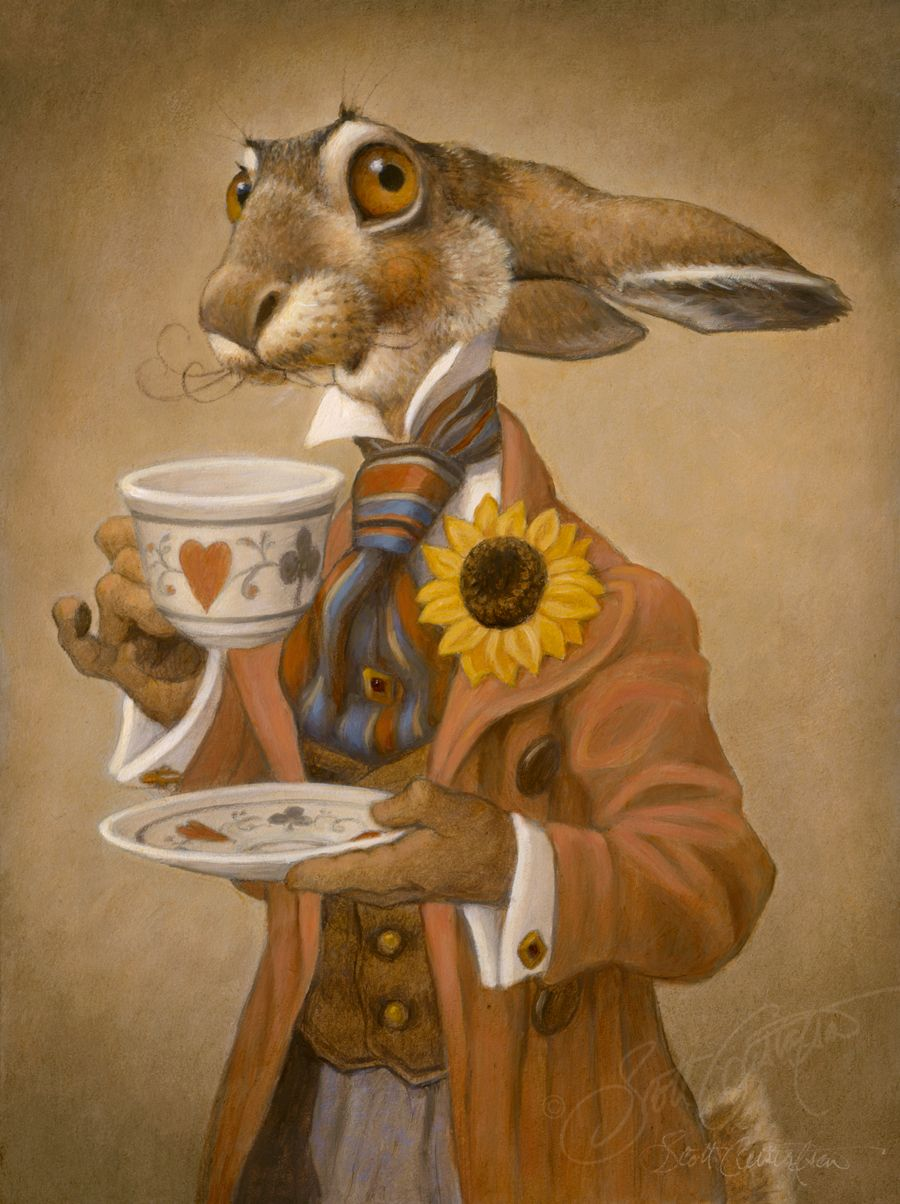 The March Hare Alice In Wonderland By Scott Gustafson Alice In
