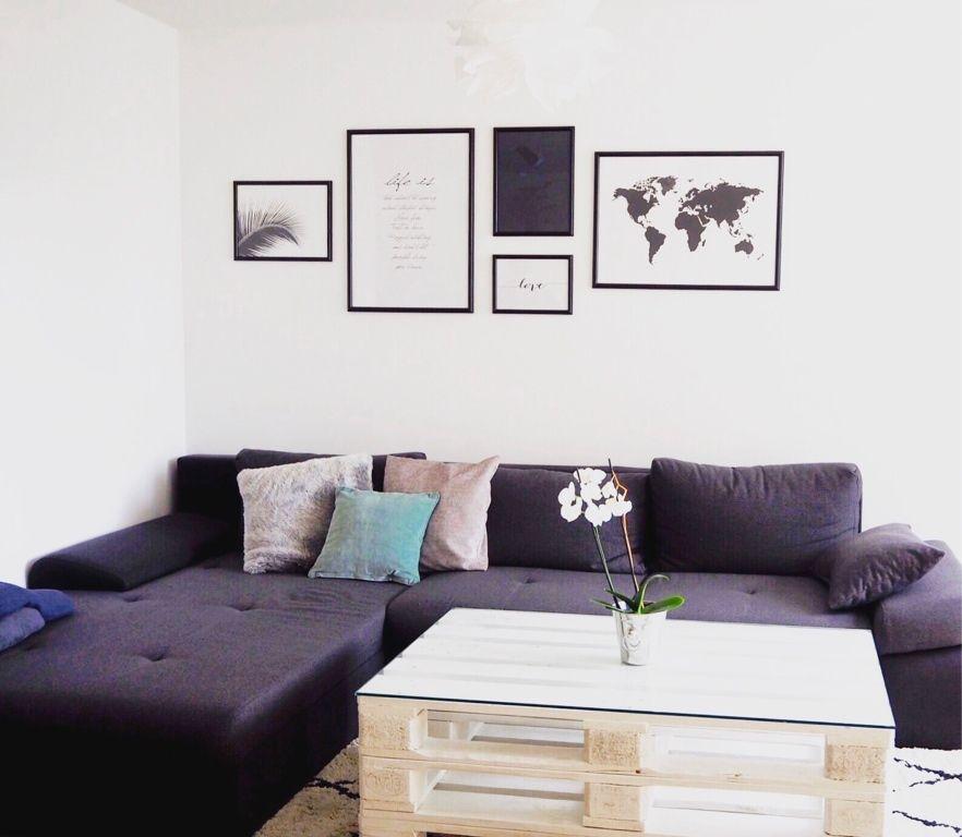 Palettentisch als trendiges Möbel selber machen #DIY #Palettentisch