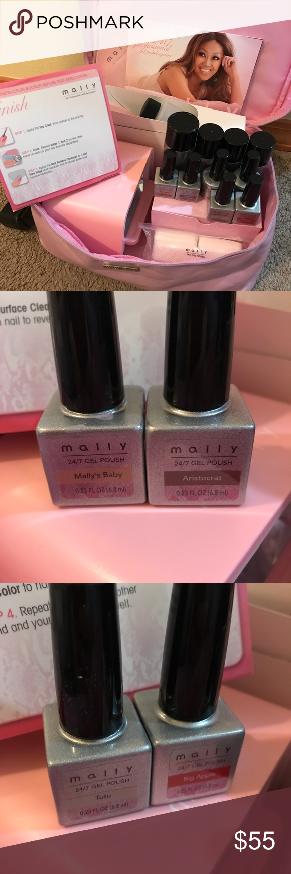 Mally Gel Nails Set .. At Home DIY | Gel nail set and Nail set