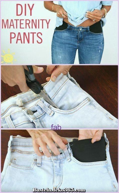 Tutorial de piratería de video DIY Maternity Jeans excepcional