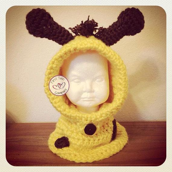 Giraffe Hooded Cowl crochet pattern, kids hooded cowl crochet ...