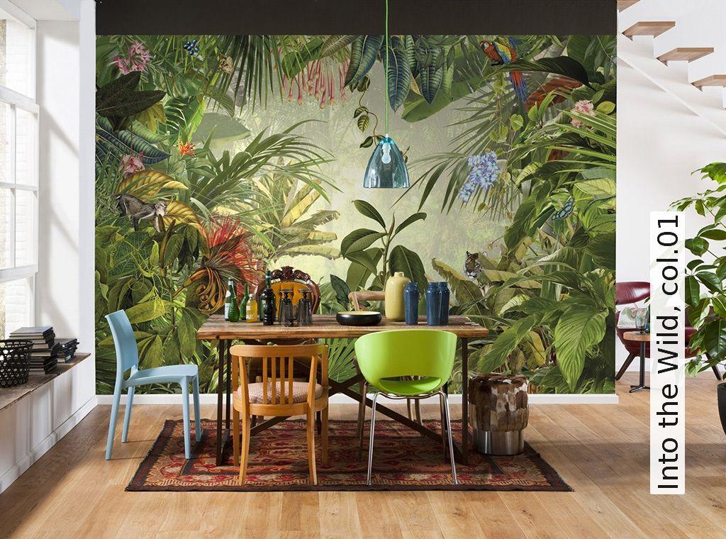 into the wild tapeten aktion und gr ne tapete. Black Bedroom Furniture Sets. Home Design Ideas