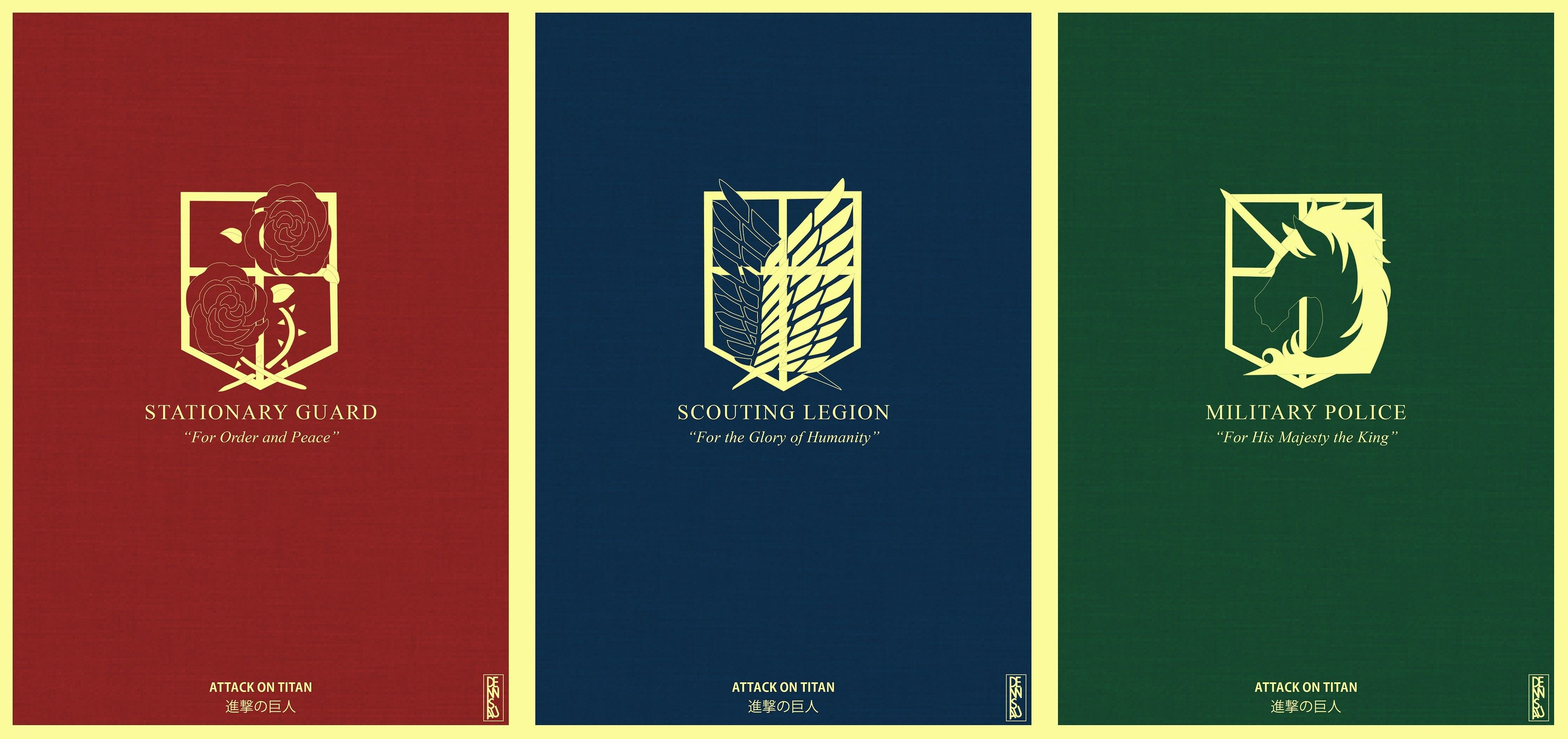 The Corps Of Shingeki No Kyojin The Garrison Regiment The Scout Regiment And The Military Police Moin Attack On Titan Shingeki No Kyojin