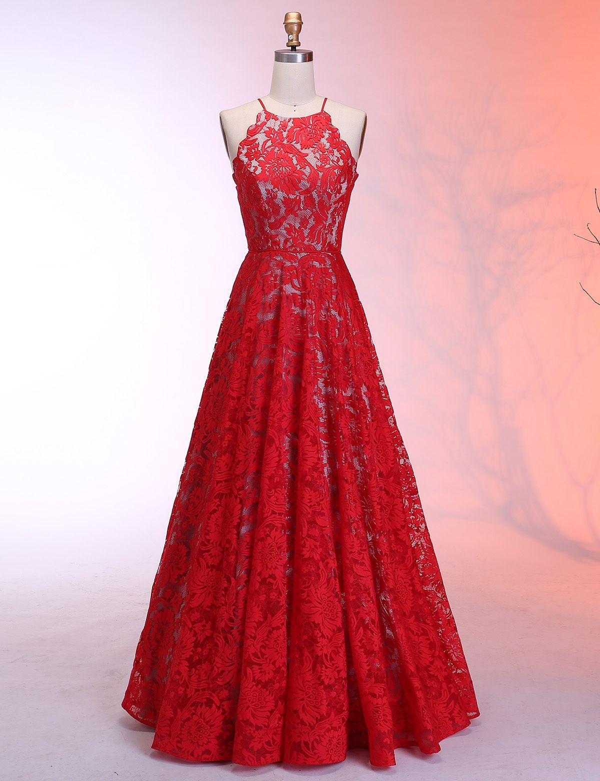 29d010dfcbc Red Prom Dress Long 2019
