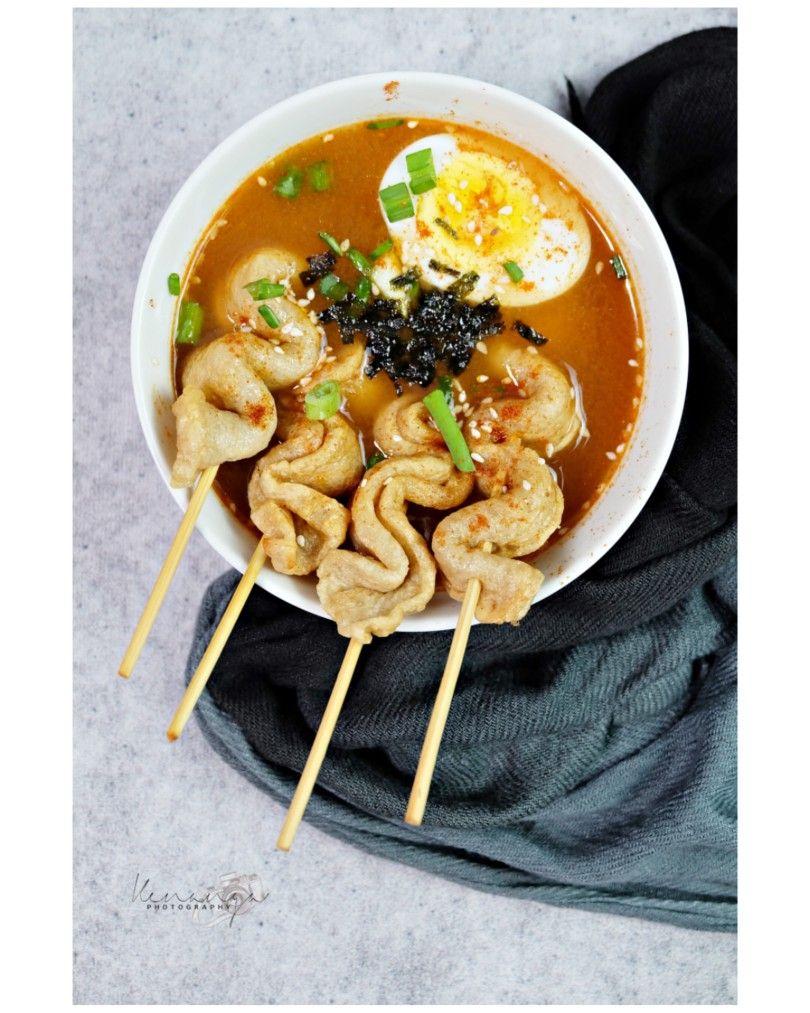 Spicy Odeng Korean Food Fotografi Makanan Makanan