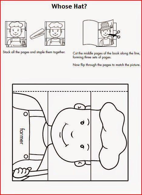 El Blog de Espe: Para imprimir: Libro de las profesiones
