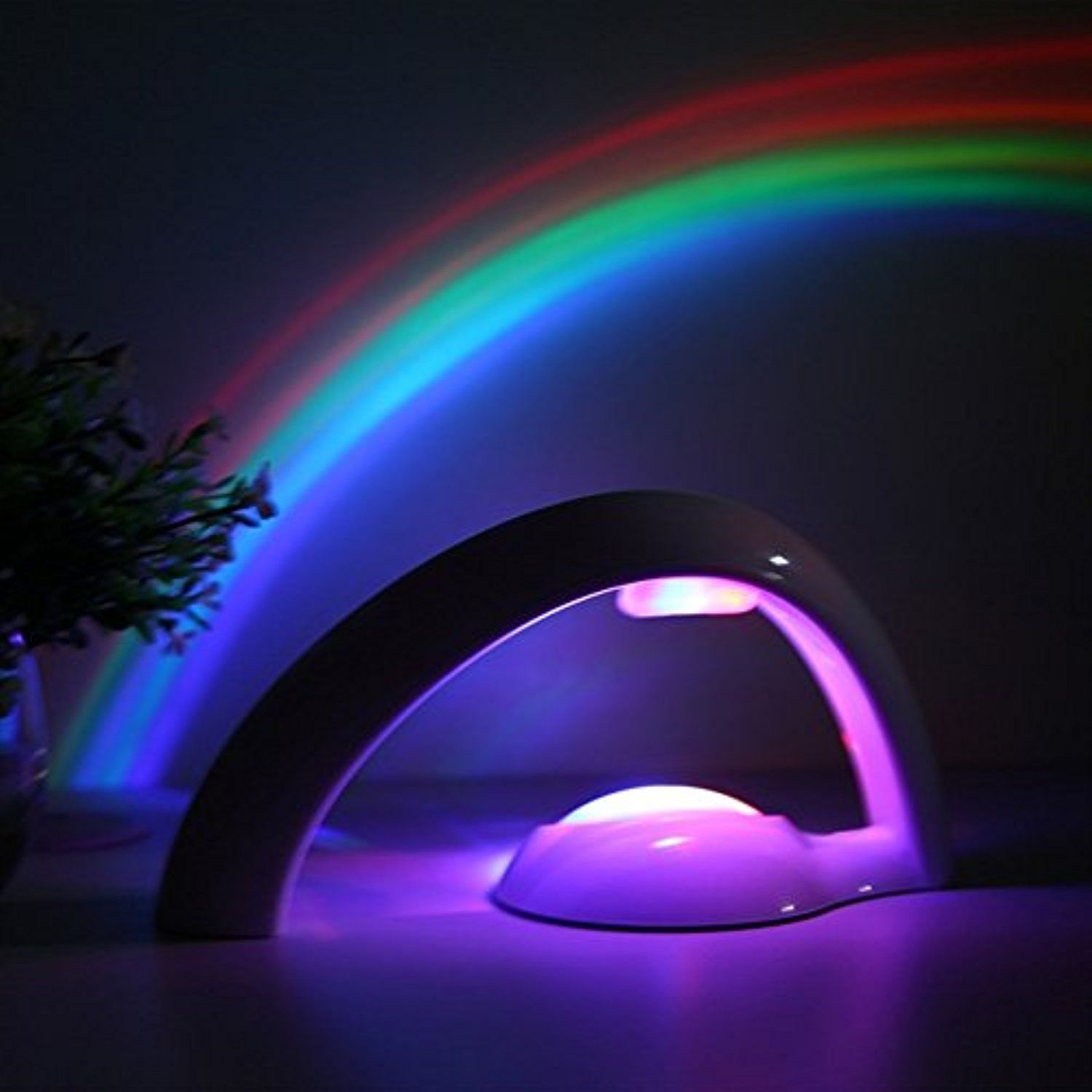 Mercu Arch Shape Romantic Led Rainbow Lamp Wall Ceiling Project Night Light Children Magic Toys Auto Off Rainbow Night Light Night Light Projector Magic Lamp