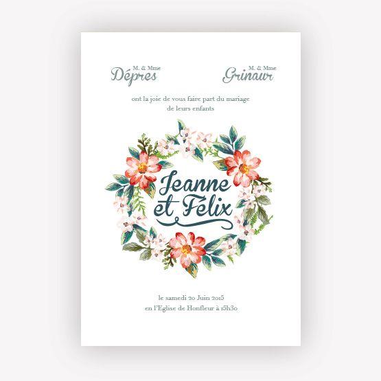 Collection Faire-part Mariage Fleur Vintage, Création