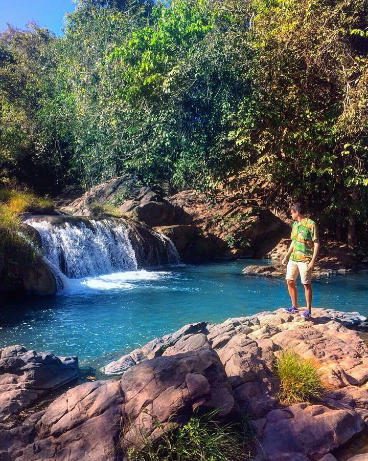 Cachoeira Da Piraputanga Caceres Mato Grosso Viagem De Ferias