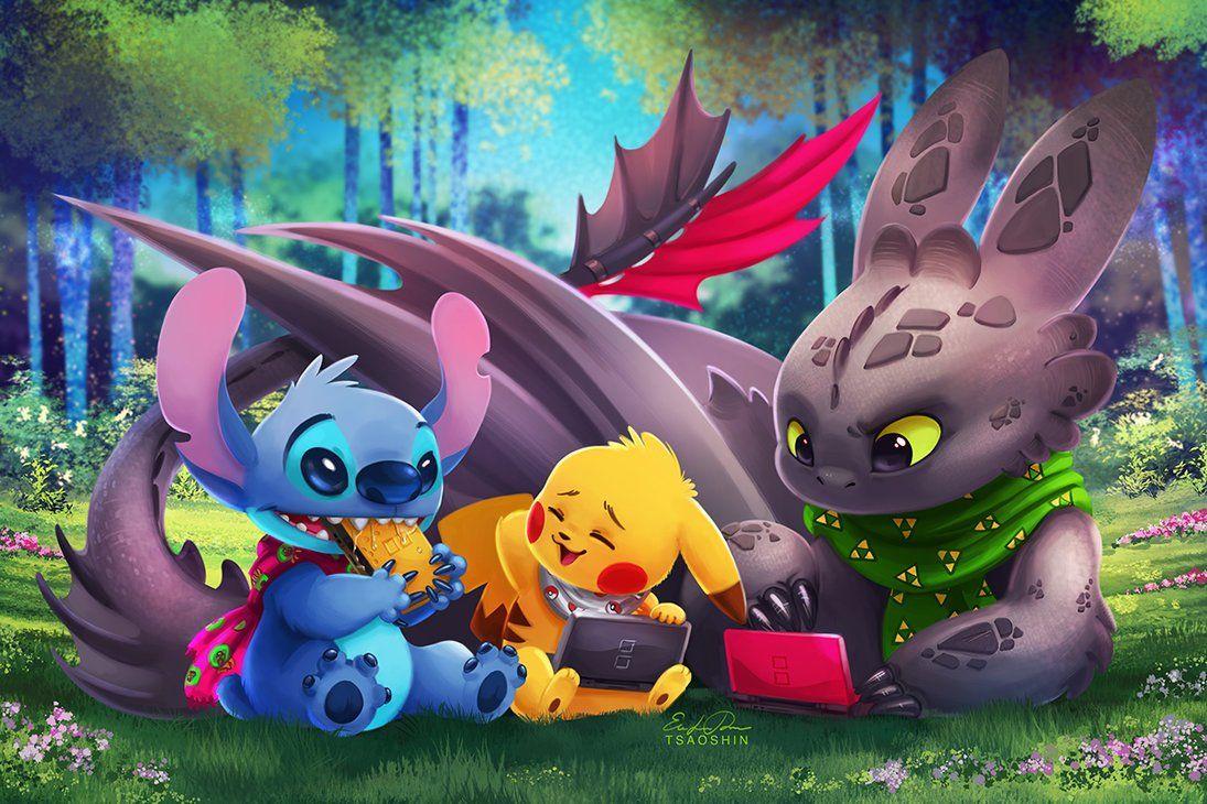 Pokemon Art On Twitter Pikachu Lilo And Stitch Movie Wallpapers