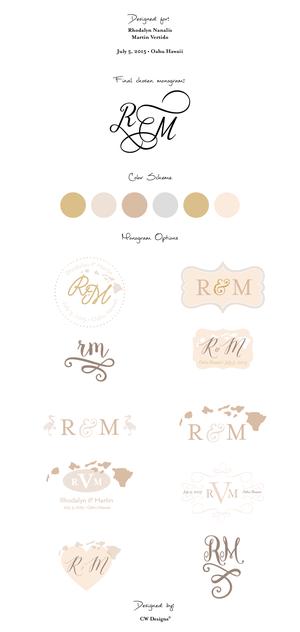Custom Wedding Monogram Designs By Cw