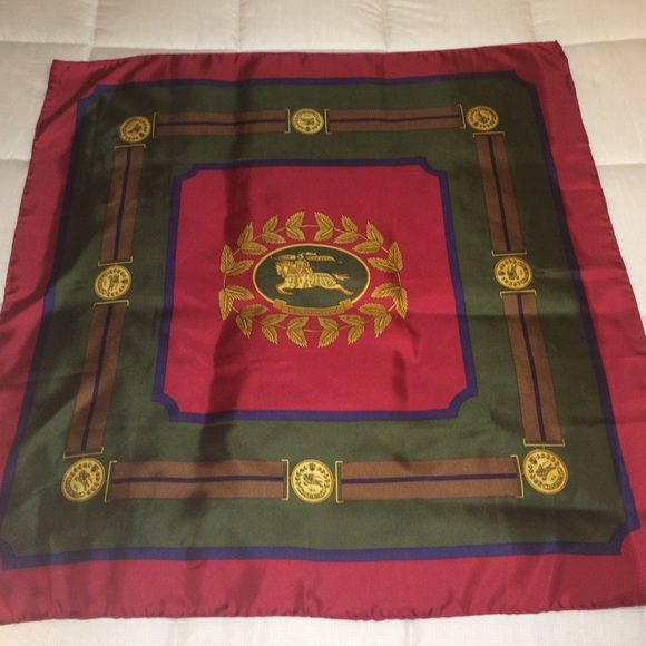 """Burberry pure silk made in Italy scarf neckerchief Vintage maybe? Great condition! Pure silk, made in Italy. Dry clean only. 34x34"""". Burberry Accessories Scarves & Wraps"""