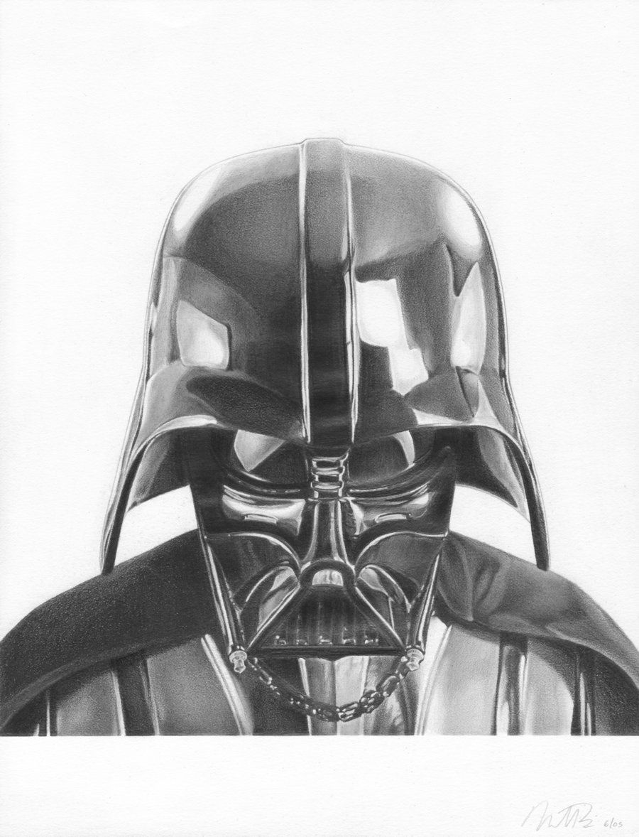 Here is a pencil drawing of Darth Vader  Amazing Drawings