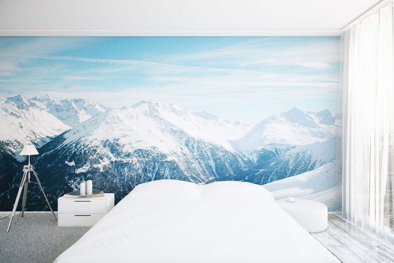 Landscape Removable Wallpaper Peel And Stick Wallpaper Wall Etsy In 2020 Wall Wallpaper Removable Wallpaper Wallpaper Bedroom