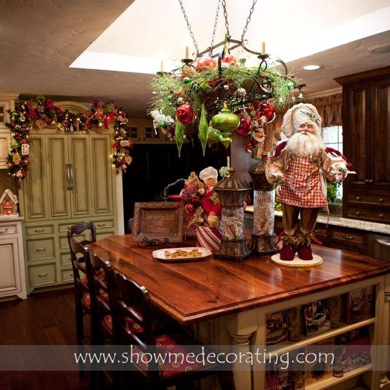 Christmas Kitchen Scene-closer View